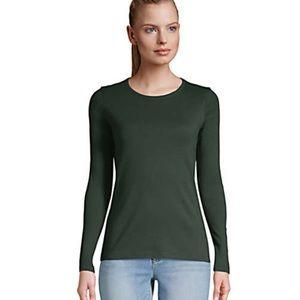 All Cotton Long Sleeve Crewneck T-Shirt